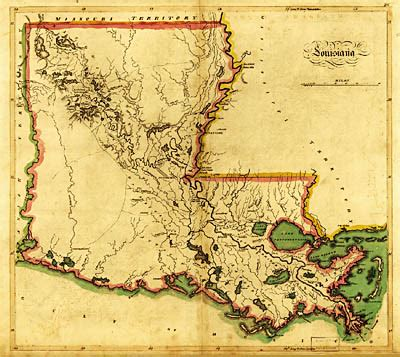physical map of louisiana louisiana geographical features