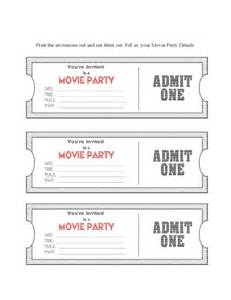 ticket invitations template free ticket invitation template free