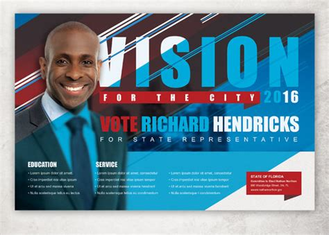 Political Flyer Template Free political postcard template 12 free psd vector eps ai