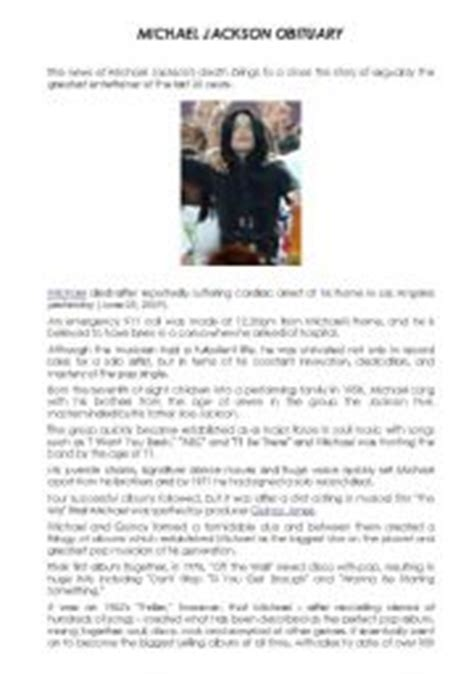 michael jackson biography pdf free download english teaching worksheets michael jackson