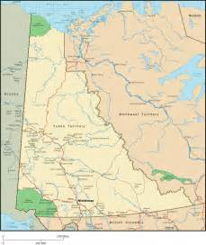 yukon map detailed map of yukon territory