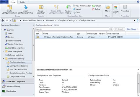 microsoft system center configuration manager sccm create and deploy a windows information protection wip