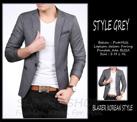 Blazer Pria Model Casual Slimfit jual style grey blazer jas pria cowok slimfit korea