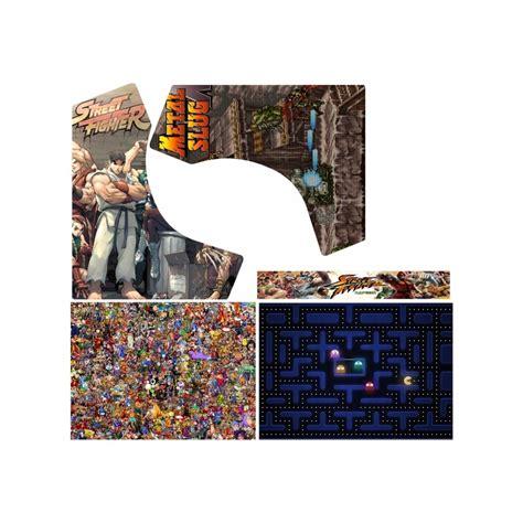 kit vinilos multijuegos metal slug sf2 arcade bartop es - Vinilos Arcade