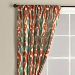 Aqua And Orange Curtains Ikat Curtain Eclectic Curtains By Cost Plus World Market