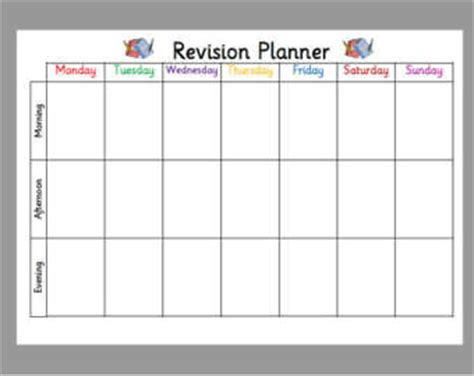 free printable revision planner weekly timetable etsy