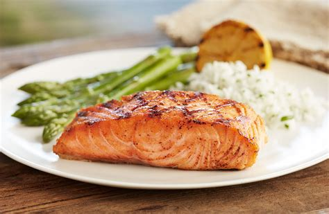 dinner salmon wood grilled fish for dinner at bonefish grill