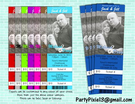 jack and jill stagette buck and doe party invitation ticket