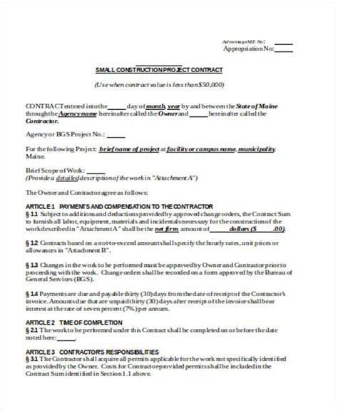 construction project management agreement template 26 contract agreement form templates