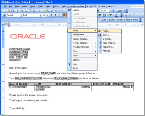 run web layout oracle reports components of oracle bi enterprise edition obiee