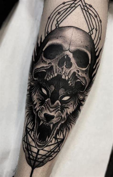 wolf skull tattoo skull wolf inkstylemag
