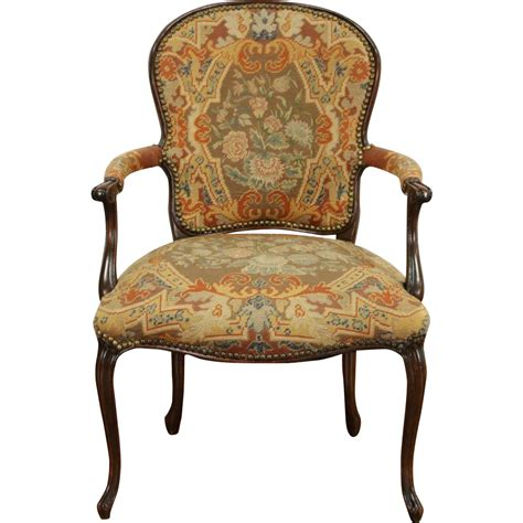 antique chair upholstery french antique 1915 chair old needlepoint petite point