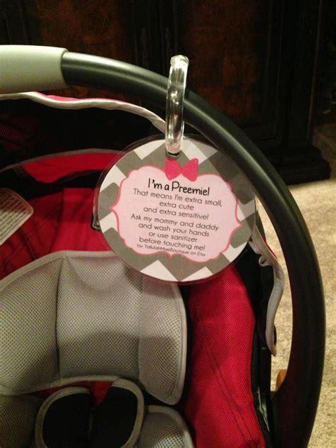 preemie car seat preemie newborn baby car seat tag baby shower gift