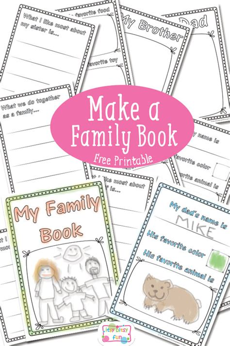 building a family books family book free printable itsy bitsy