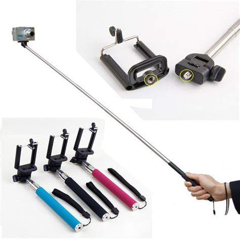 Monopod Selfie extendable self portrait selfie stick handheld monopod wireless bluetooth remote shutter