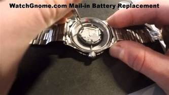 Swiss Army Watch Battery Replacement   Men's Watch   YouTube