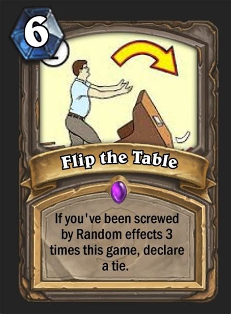 make a hearthstone card top 5 custom cards week 4 table flipping coin stealing