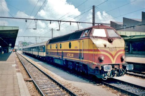 Lu Cfl on 23 july 1997 cfl 1809 stands at luxembourg gare centrale rail pictures