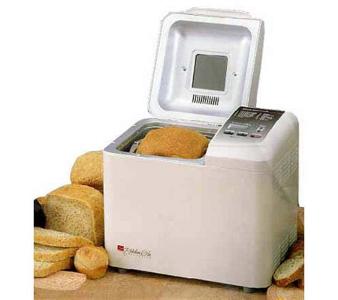 regal kitchen pro 1 5 lb bread maker white qvc
