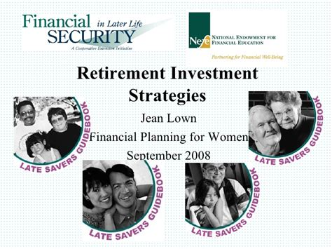 A Late Starter S Guide To Retirement late saver s guide to retirement sept 2008