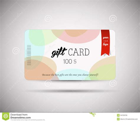 modern gift card template stock vector illustration of