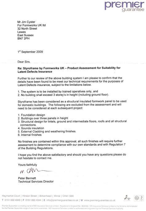 Guarantee Letter To Supplier premier guarantee 090902