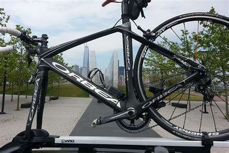 lock bike to roof rack inno fork lock iii bike rack best price on inno fork