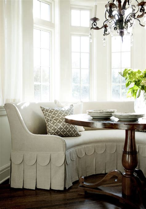 Bay Window Banquette by Bay Window Breakfast Nook Transitional Dining Room
