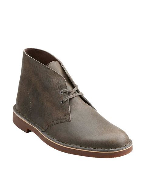 clarks bushacre chukka boot clarks bushacre 2 leather chukka boots in grey for lyst