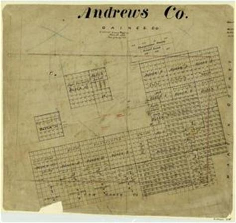 andrew texas map county the portal to texas history