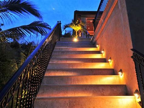 Outdoor Lighting Stairs Outdoor Step Lights Tropical Stair And Step Lights Charleston By Randy Greenhill