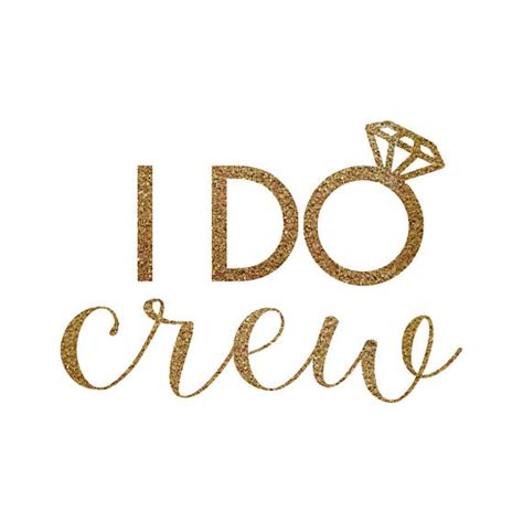 Jcrew I Do by Iron On I Do Crew Gold Glitter Decal Bachelorette
