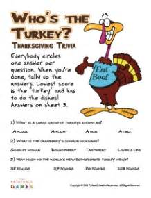 printable trivia thanksgiving