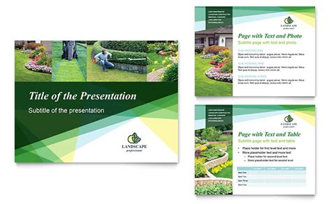 stock powerpoint templates landscaper powerpoint presentation template design