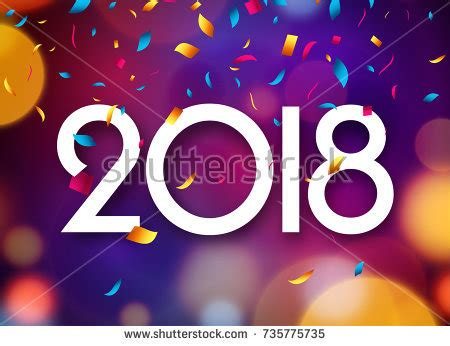 new year cards 2018 template happy new year 2018 background decoration stock vector