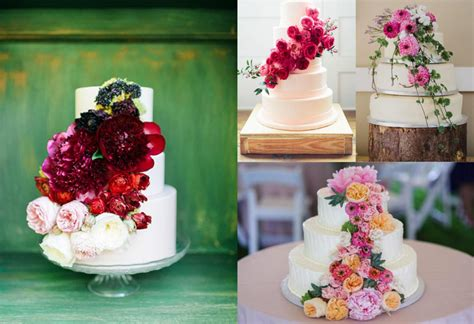 Wedding Cake Flower Tops by Wedding Cakes With Flowers Our Fave Styles Top Tips
