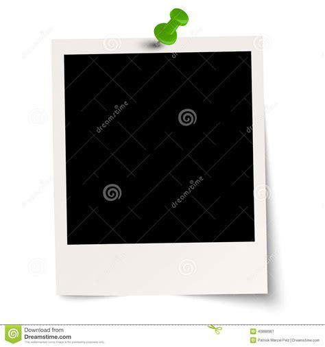 Blank Polaroid With Pin Needle Stock Vector Illustration Of Information Office 40888987 Photo Template