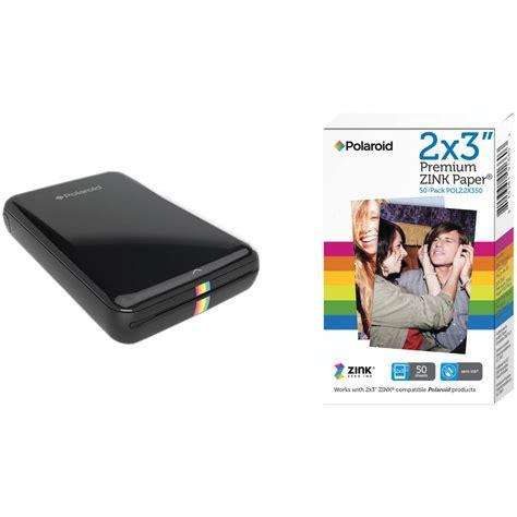 polaroid mobile polaroid zip mobile printer kit with 50 sheets of photo paper
