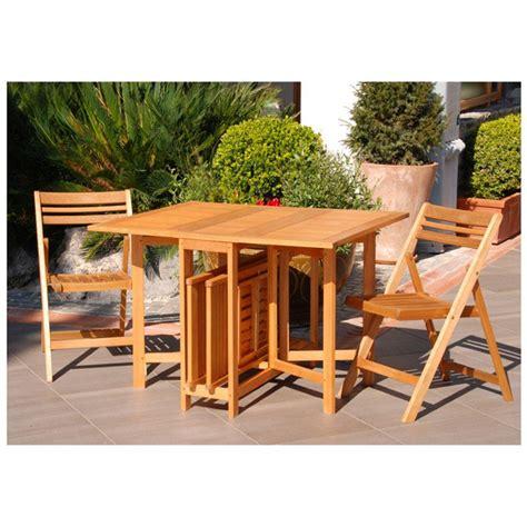 tavolo terrazzo tavolo pieghevole con 4 sedie in legno per giardino