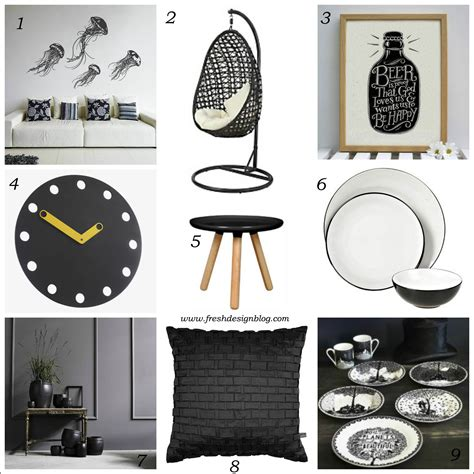 interior design accessories black and white delight monochrome home accessories