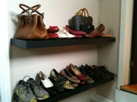 floating shelves for shoe storage home decor