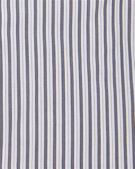 Wooven Worker Grey kiton striped woven dress shirt in gray for lyst