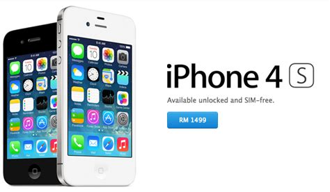 Hp Iphone 4 Di Malaysia apple malaysia store now offering 8gb iphone 4s at