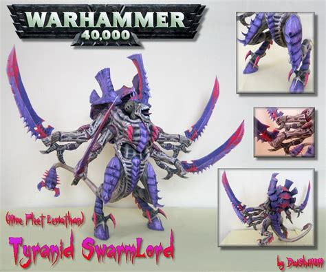 Warhammer Papercraft - warhammer 40k tyranid swarmlord papercraft papercraft