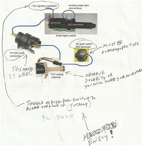 lock up converter kit 200r4 wiring diagram autos post