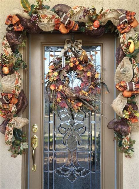 decorate  front door     custom fall