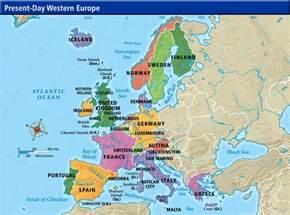 Western European Map by Online Maps Western European Map