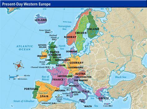 maps western european map