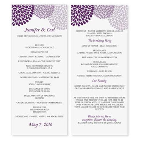 wedding program templates free ideas c bertha fashion