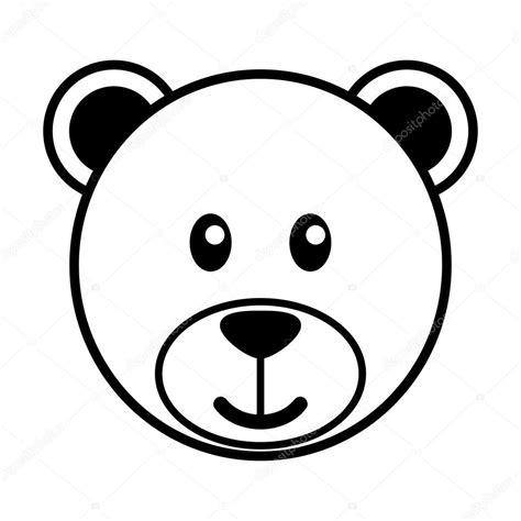 desenho simples desenho simples de um fofo urso vetores de stock